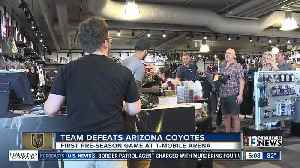Fans stock up on VGK gear before first game [Video]