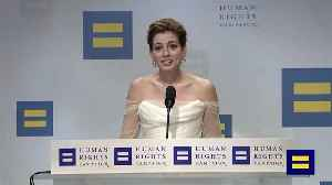 Anne Hathaway Honoured With Equality Award [Video]