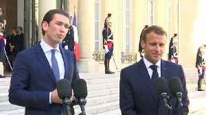 Macron and Kurz talk immigration ahead of EU talks to close a major rift over the issue [Video]