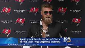 Ryan Fitzpatrick Wears DeSean Jackson's Clothes At Post-Game Press Conference Sunday [Video]