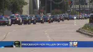Brothers In Blue And Community Watch Procession For Fallen Officer  [Video]