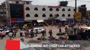 Bengal BJP Chief Car Attacked [Video]
