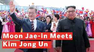 Kim Jong Un And Moon Jae-in Embrace Each Other As They Meet For Third Summit [Video]