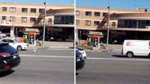 Why did the chicken cross the road? Hilarious footage shows chicken sprinting across road [Video]
