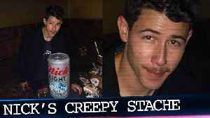 Nick Jonas' Epic BDay; What's Up With His Creepy Mustache?! [Video]