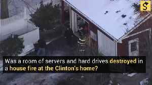 Was a Room Full of Servers and Hard Drives Destroyed in the Clinton House Fire? [Video]