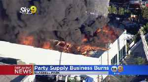 Party Supply Business Burns [Video]