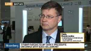 EU's Dombrovskis Says Trade Conflicts Raising Downside Risks to Economy [Video]