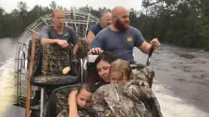 Pregnant Woman Clings to Tree to Escape Rising North Carolina Floodwaters [Video]