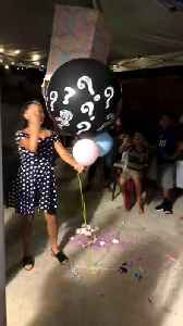 Gender Reveal Balloon Accidentally Flies off Into Air [Video]