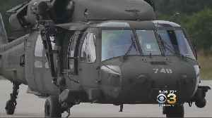 Black Hawk Departs New Jersey Air Force Base To Assist In Hurricane Florence Rescue Effort [Video]