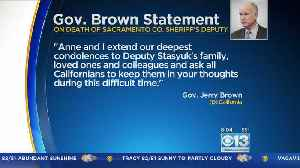 Gov. Brown Issues Statement On Shooting Of Deputy Stasyuk [Video]