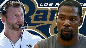 Kevin Durant Jumps On LA Rams Bandwagon! Can KD Survive In The NFL? [Video]