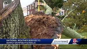 NWS team surveying storm damage in Saugus [Video]