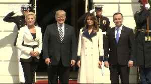 Right Now: Melania Trump Wore a $4,000 Gucci Wool Coat in 80 Degree Humidity [Video]