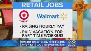 Retailers Begin Holiday Hiring Search Amid Record Low Unemployment Rate [Video]