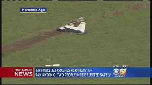 Air Force Trainer Plane Crashes In Field; 2 On Board Reportedly OK [Video]