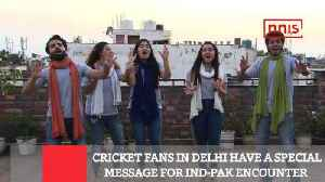 Cricket Fans In Delhi Have A Special Message For Ind-Pak Encounter [Video]