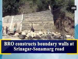 BRO constructs boundary walls at Srinagar-Sonamarg road [Video]