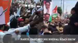 Rahul Gandhi's Big Bhopal Road Show [Video]
