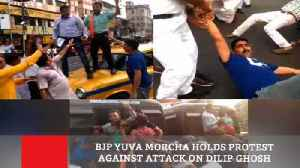 BJP Yuva Morcha Holds Protest Against Attack On Dilip Ghosh [Video]