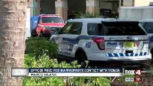 Officer fired for innapropriate conduct [Video]
