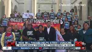 New bill passed helps street vendors [Video]
