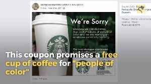 Is Starbucks Offering Coupons for Black Customers Only? [Video]