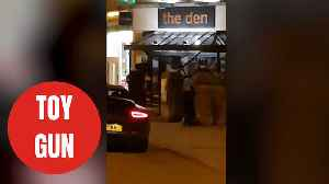 Armed police arrested man outside popular bar carrying realistic toy gun [Video]
