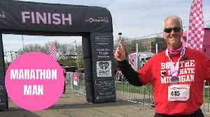 Obese dad sheds an incredible 115lbs and runs first marathon [Video]