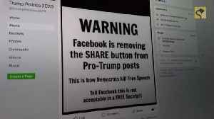 Is Facebook Removing the Share Button from Pro-Trump Posts? [Video]