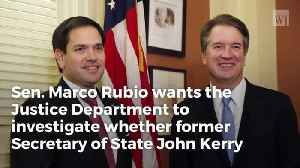 Rubio Unloads On Kerry Over Meeting With Iranian Officials, Demands Answers From Doj [Video]