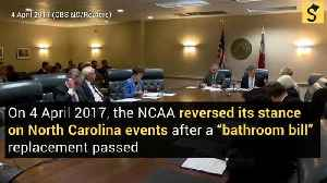 NCAA Reverses Stance on North Carolina Events After 'Bathroom Bill' Replacement Passed [Video]