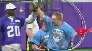 Vikings Players Ref Special Olympics Flag Football Game [Video]