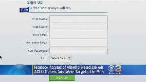 News video: Facebook Accused Of Letting Employers Discriminate Job Ads