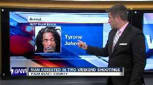 Suspect arrested in 2 weekend shooting in Palm Beach County [Video]