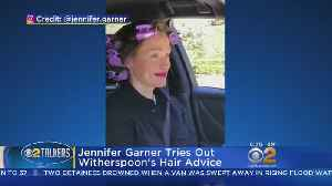 Jennifer Garner Tries Out Reese Witherspoon's Hot Hair Tips [Video]