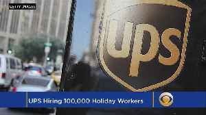 UPS To Hire 100,000 Employees For The Holiday Season [Video]
