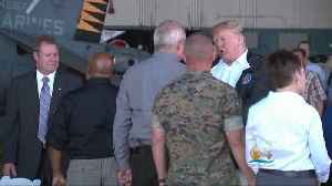 President Trump Visits Areas Affected By Florence [Video]