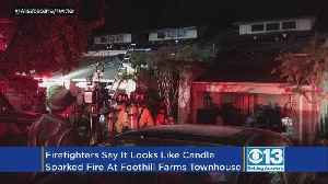 Firefighters: Candle To Blame For Fire At Foothill Farms Townhouse [Video]