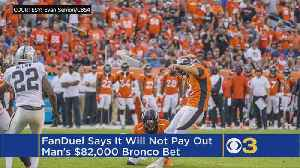 NJ Probes FanDuel Refusal To Pay $82K On Wrong Football Odds [Video]