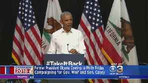 Former President Obama Campaigning For Sen. Casey In Philly [Video]