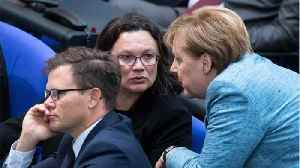 German SPD Leader Nahles Urges Party To Remain In Coalition Government [Video]