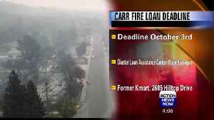Deadline to Apply for Carr Fire Disaster Assistance: Oct. 3 [Video]