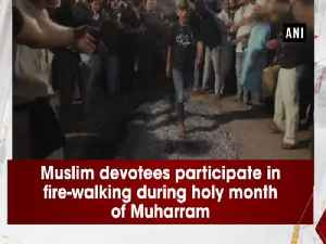Muslim devotees participate in fire-walking during holy month of Muharram [Video]