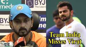 Asia Cup 2018 | Team India misses Virat, says Kedar Jadhav [Video]