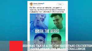 Sehwag Takes A Dig On Pakistani Cricketers Over Break The Beard Challenge [Video]