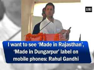 I want to see 'Made in Rajasthan', 'Made in Dungarpur' label on mobile phones: Rahul Gandhi [Video]
