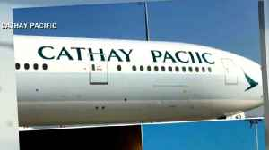 Cathay Pacific Airways misspells company name on plane [Video]