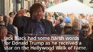 Jack Black calls Donald Trump a 'piece of s***' as he receives Hollywood star [Video]